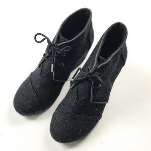 b757832e87b Toms Shoes - Toms Women s Wool Gray Wedges Shoes 6 Cute!